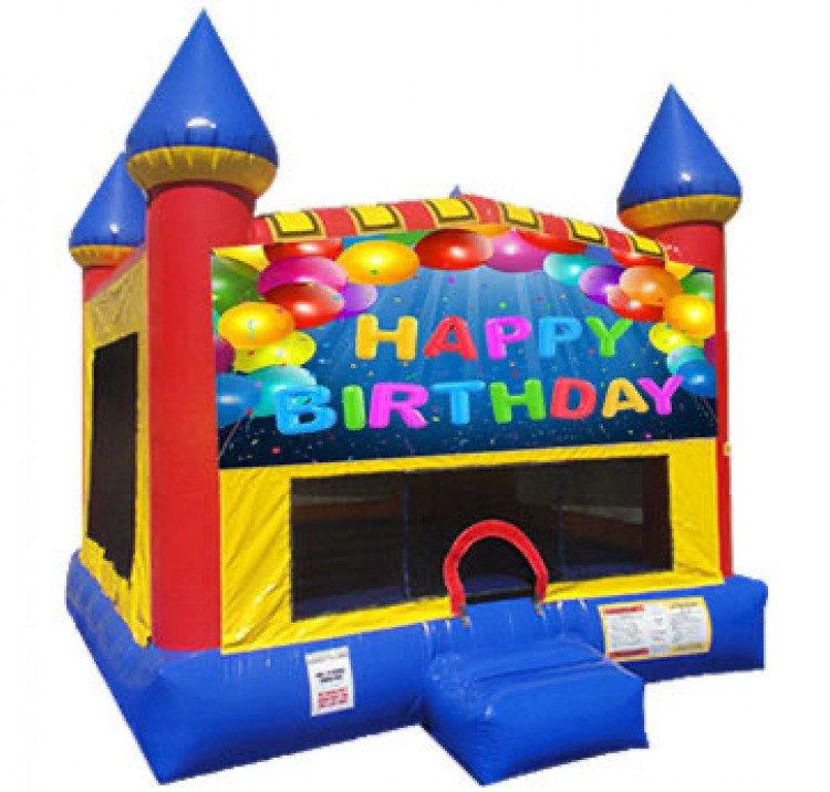 Happy Birthday Castle Bounce Large